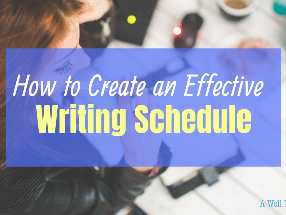How to create an effective writing schedule