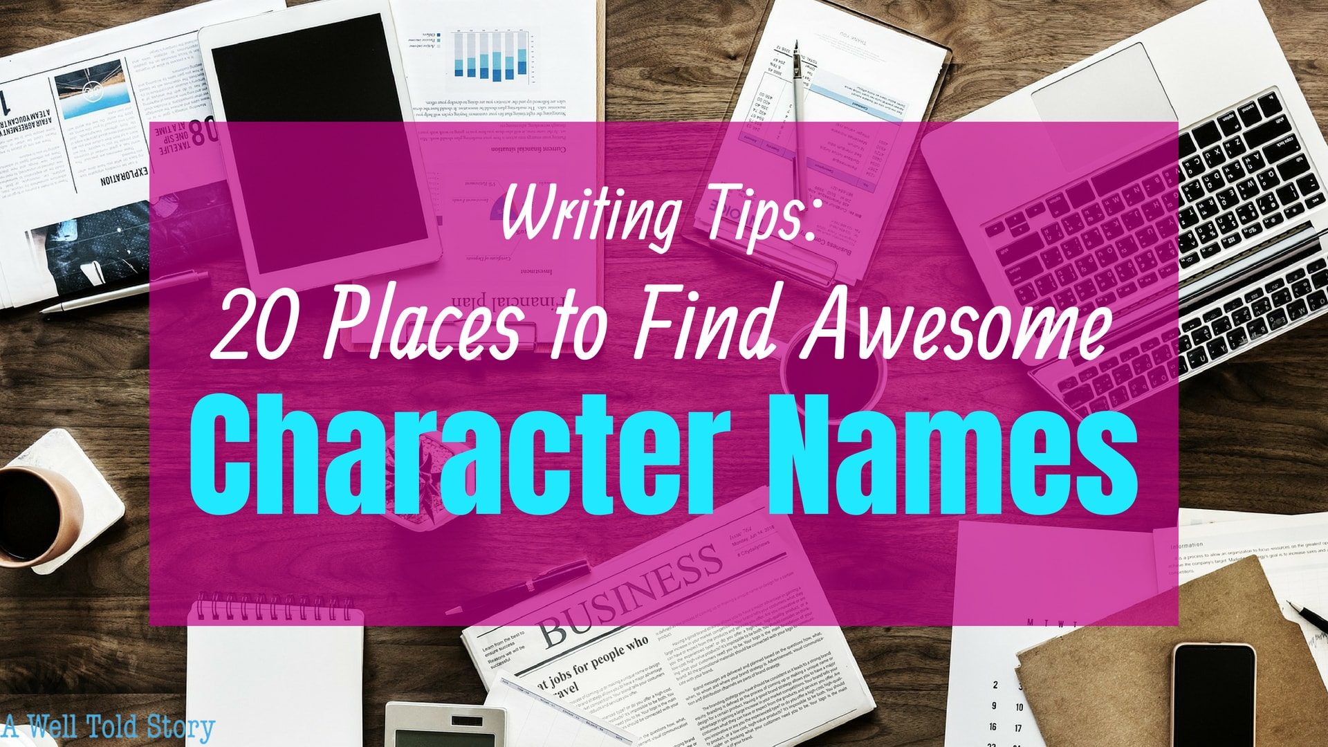 20 Places to find awesome character names